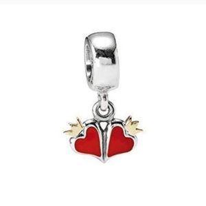 Pandora royal True love dangle charm hearts charm